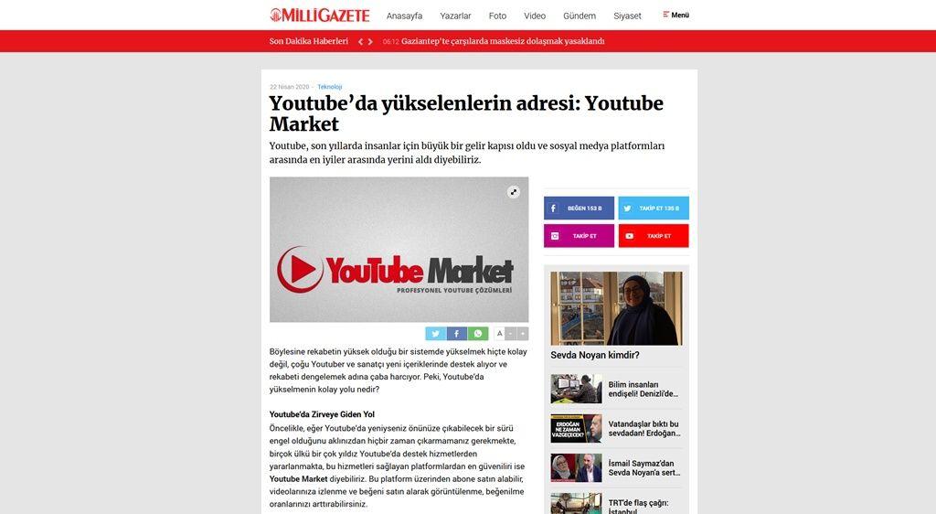 Youtube'da yükselenlerin adresi: Youtube Market