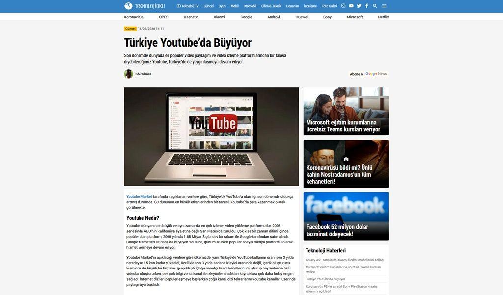 Türkiye Youtube'da Büyüyor   Youtube Market
